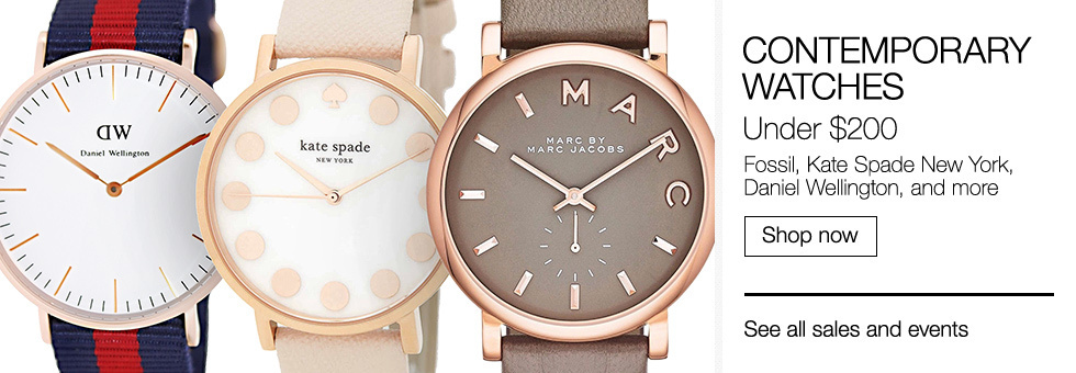 Contemporary Watches Under $200 | Fossil, Kate Spade New York, Daniel Wellington, and more | Shop now