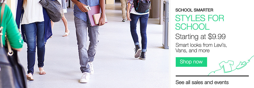 School Smarter | Styles for School Starting at $9.99 | Smart looks from Levi's, Vans, and more | Shop now