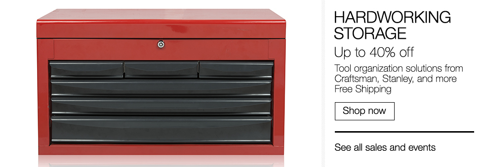 Hardworking Storage | Up to 40% off Tool organization solutions from Craftsman, Stanley, and more | Free Shipping | Shop now