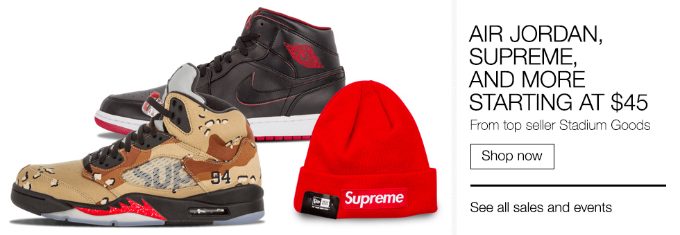 Air Jordan, Supreme, and more | Starting at $45 | From top seller Stadium Goods | Shop now