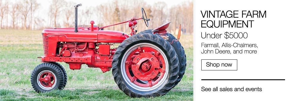 Vintage Farm Equipment | Under $5000 | Farmall, Allis-Chalmers, John Deere and more | Shop now