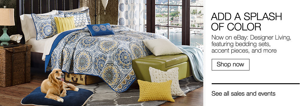 Add a Splash of Color | Now on eBay: Designer Living, featuring bedding sets, accent pieces, and more | Shop now