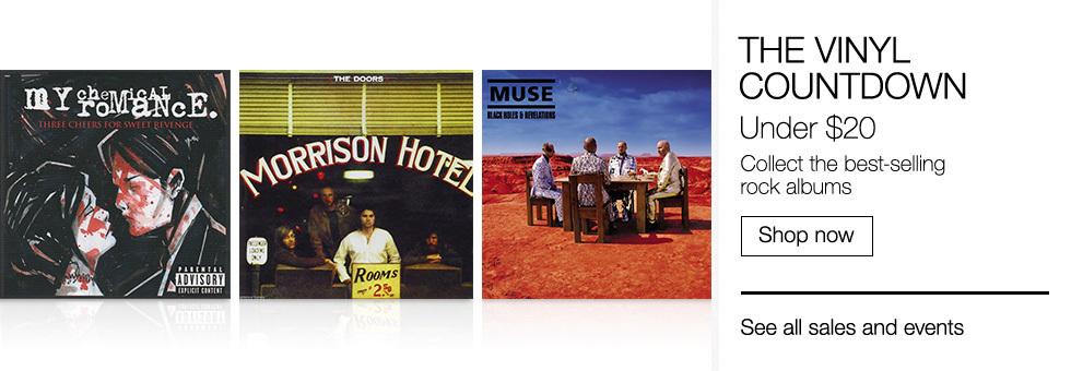 The Vinyl Countdown | Under $20 Best-selling rock albums | Shop now