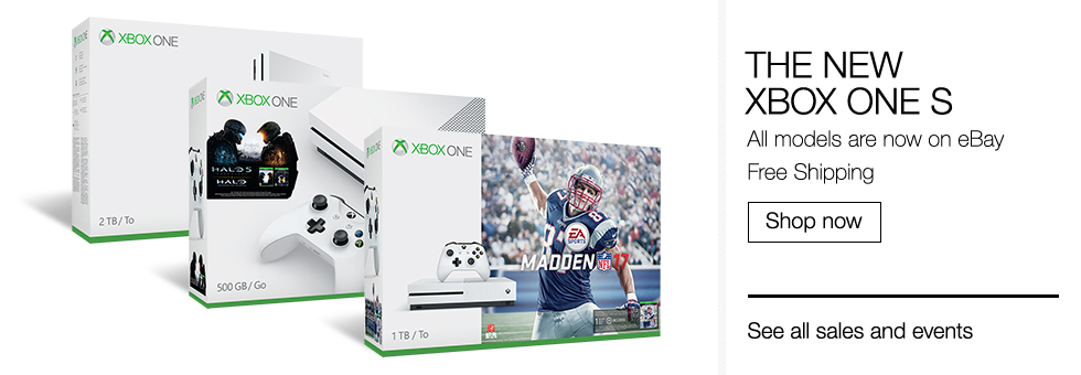 The New Xbox One S | All models are now on eBay | Free Shipping | Shop now