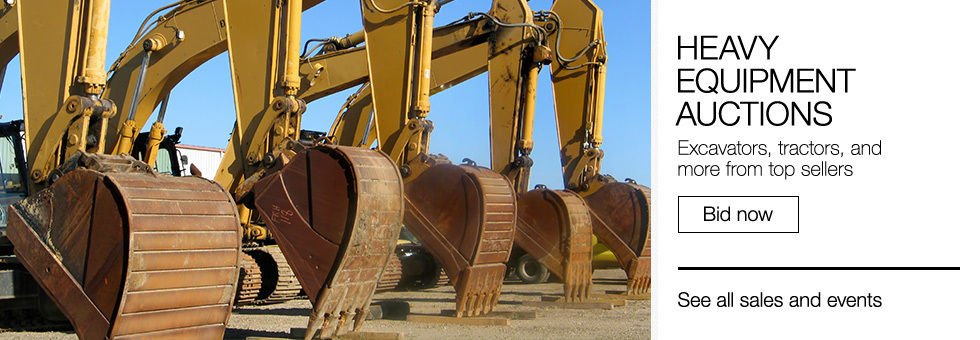 Heavy Equipment Auctions | Excavators, tractors, and more from top sellers | Bid now