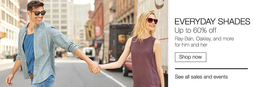 Everyday Shades | Up to 60% off | Ray-Ban, Oakley, and more for him and her | Shop now