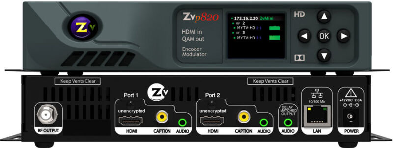 Zeevee Zvpro 820 Hdmi Hd Video Distribution Over Coax (dual Channel)