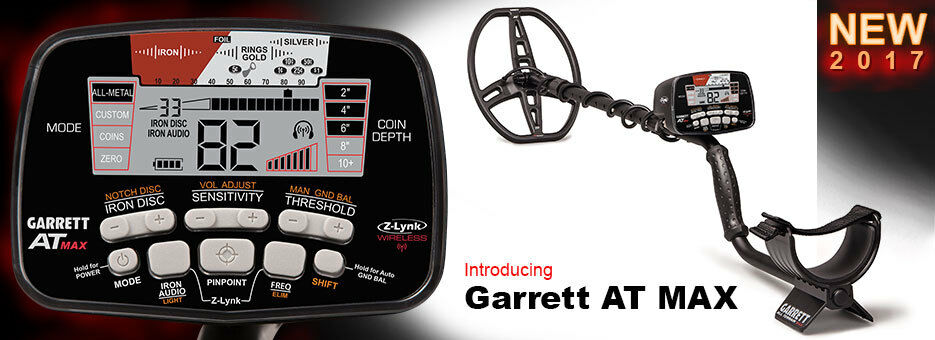 NEW GARRETT AT MAX METAL DETECTOR WITH Z LYNK WIRELESS HEADPHONES SHIPS TODAY