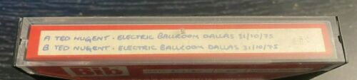 TED NUGENT Live Concert Cassette (Sold as Blank) Dallas, Texas 31 October 1975