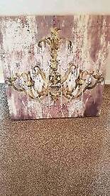 Chandelier canvas with jewels