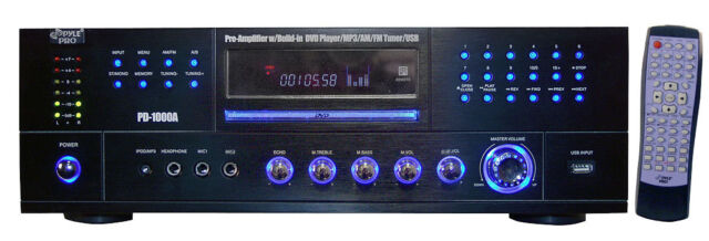 NEW PYLE 1000W HOME STEREO RECEIVER RADIO DVD CD MP3 PLAYER AUDIO SYSTEM PD1000A