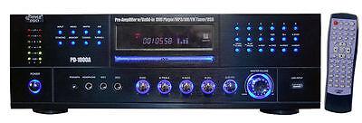 CD DVD PLAYER PYLE PRO 1000 WATT STEREO RECEIVER AMPLIFIER A