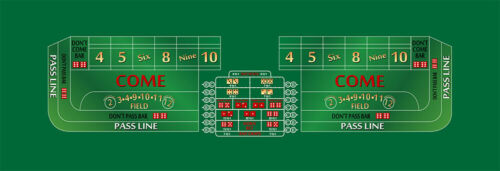 Craps layout 14 foot choice of 2 colors