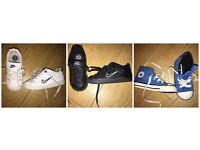 3 PAIRS BOYS INFANT SIZE 6 - 2 NIKE TRAINERS + 1 CONVERSE TRAINERS £12 FOR ALL