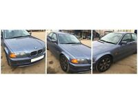 bmw 3 Series Saloon 318 2000 Blue Auto front bumper all parts available