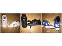 *BARGAIN* 3 PAIRS BOYS INFANT SIZE 6 - 2 NIKE TRAINERS + 1 CONVERSE TRAINERS