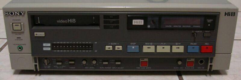 Sony EVO-9500A PRO Hi8 Video8 8mm Video 8 Player Recorder PCM TC VCR Deck EX
