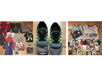 BOYS 15 X 3-4 YEARS JOBLOT + ADIDAS SIZE 9 TRAINERS £10 TAKE ALL
