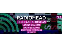 Ticket for TRNSMT Festival 7th July: Radiohead, Belle and Sebastian, London Grammar, etc