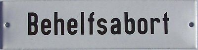 Behelfsabort Abort WC Bad Gästetoilette Email Emaille Schild Emailschild