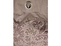 Dunelm purple eyelet curtains