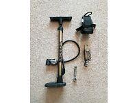 Bike pump + repair tools