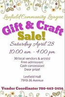 Vendors for Spring Gift & Craft Sale!