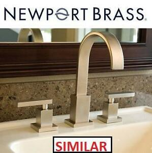 NEW* NEWPORT BRASS BATHROOM FAUCET - 123232700 - DOUBLE HANDLE WIDESPREAD SECANT COLLECTION SATIN NICKEL
