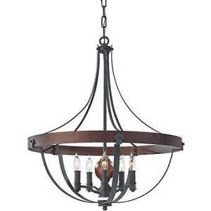 Brand New FEISS Alston Single Tier Six Light Chandelier