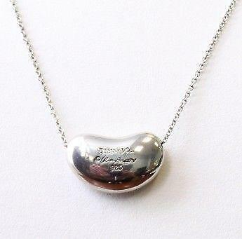 Tiffany bean necklace ebay audiocablefo Light gallery