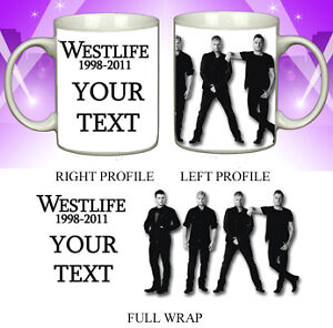 WESTLIFE  Special Personalised mug  marking the end of the band  Great gift idea