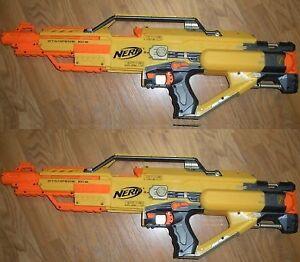 Nerf Lot Of 2x Stampede Dart Gun Ecs 50 Blaster Only 2