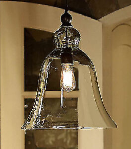 Pottery Barn – Rustic Glass Indoor / Outdoor Pendant, Large