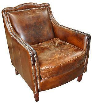 antique leather sofa vintage leather chair ebay 1289