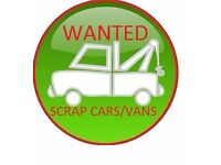 WANTED SCRAP CARS,VANS,UNWANTED CAR,BIKES ,DAMAGED,NON RUNNERS ,OLD CARS