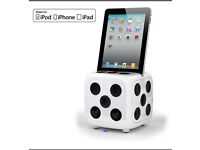 I-dice docking station for I - pad , I phone ,I pod , still in box