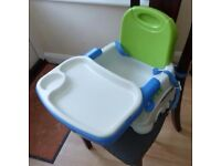 Fisher Price folding portable high chair/booster seat with removable table