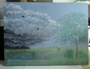 ***ONE of a kind --LARGE ORIGINAL PAINTING