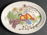 "13"" Oval Serving Platter in Fruitdale by Vernon Kilns"