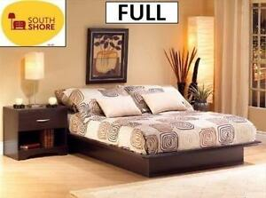 NEW* SOUTH SHORE PLATFORM BED FULL STEP ONE COLLECTION - CHOCOLATE - HOME DECOR FURNITURE BEDROOM 103441490