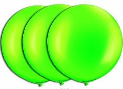36 Inch Giant Lime Green Latex Balloons by TUFTEX (Premium Helium Quality) Pkg/3](Green Helium Balloons)