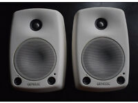 Pair of pro powered monitors — Genelec 8030 with case and brackets