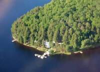 Old Mirror Lodge on Toad lake/Pickerel river near Port Loring