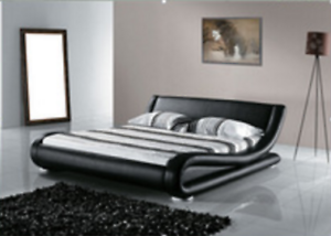 Brand New Curved King Pu Leather Bed. Clearance Sell