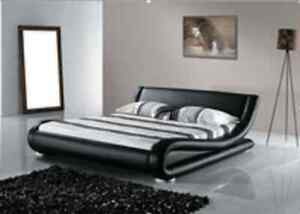 Brand New Curved Pu Leather King  bed Italian Design In Stock Seven Hills Blacktown Area Preview