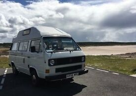 Vw T25 Camper, 1985 petrol water cooled engine 2 berth factory conversion