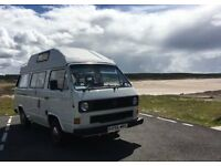 VW T25 Camper 1985 1.9 petrol water cooled engine. Factory conversion high top