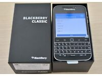 Blackberry Classic unlocked in original box. Mint condition with all accessories. Sim-free mobile