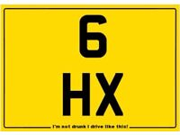 6 HX, 3 digit dateless private plate, superb value and perfect investment