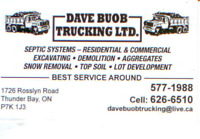 Dave buob trucking ltd. your earth work & septic specialists